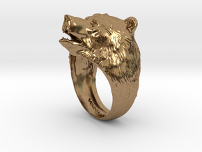 Bear ring in Natural Brass
