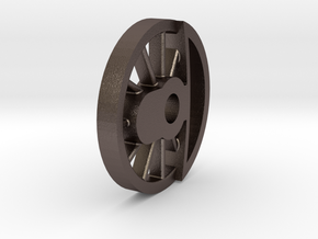 SP18 Bare Middle Drive Wheel in Polished Bronzed-Silver Steel
