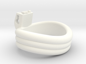 Cherry Keeper Ring G2 - 53x47mm Triple -4° (~50mm) in White Processed Versatile Plastic