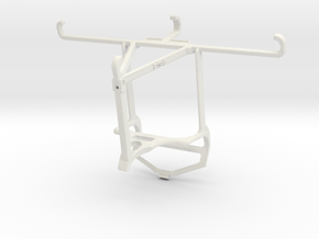 Controller mount for PS4 & Oppo Find X3 Neo - Top in White Natural Versatile Plastic