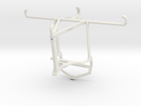 Controller mount for PS4 & Oppo Find X3 Pro - Top in White Natural Versatile Plastic