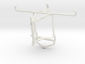 Controller mount for PS4 & Realme C21 - Top in White Natural Versatile Plastic