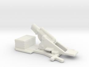 bl 9.2 inch  MK 1  siege howitzer 1/286 6mm  in White Natural Versatile Plastic
