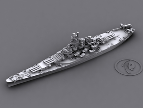 US BB58 Indiana [early-war; 1942] in White Natural Versatile Plastic: 1:1800