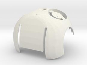 Front of DARwIn-OP head in White Natural Versatile Plastic