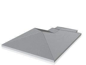 Pent Roof_50 in White Natural Versatile Plastic