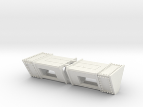 Triangle Ticket Box 2-PK in White Natural Versatile Plastic