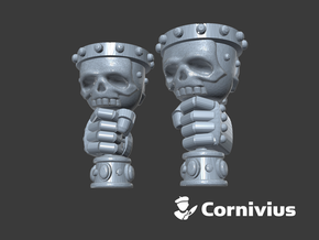 Skull Chalices (Left & Right-Handed) in Smooth Fine Detail Plastic: Small