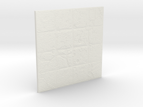 Dungeon Room Tile (4 x 4) in White Natural Versatile Plastic