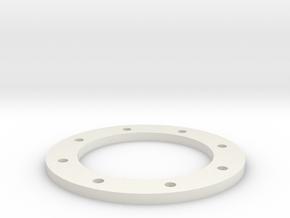 2.2 Zero Offset Flatface Bedlock Ring in White Natural Versatile Plastic