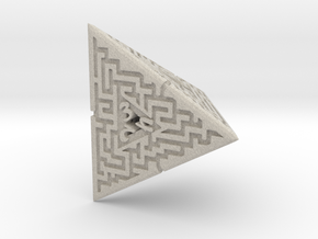 4 Sided Maze Die in Natural Sandstone