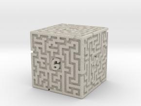 6 Sided Maze Die in Natural Sandstone