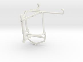 Controller mount for PS4 & Xiaomi Poco F3 - Top in White Natural Versatile Plastic