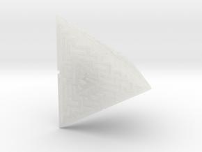 4 Sided Maze Die in Smooth Fine Detail Plastic