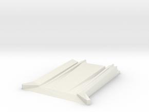 Lego Train Track To Floor Adapter in White Natural Versatile Plastic