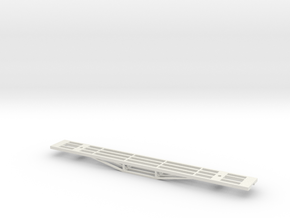 56ft Carriage Underframe w/o Floor (S Scale, 1:64) in White Natural Versatile Plastic