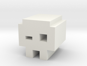 Geometry Dash Jumper Icon in White Natural Versatile Plastic