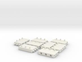 Building Blocks for MODULO - Set4 in White Natural Versatile Plastic