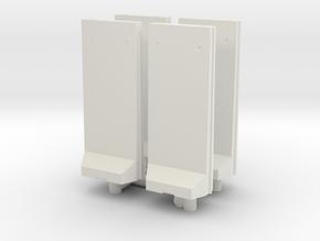 Concrete T-Wall (x4) 1/100 in White Natural Versatile Plastic
