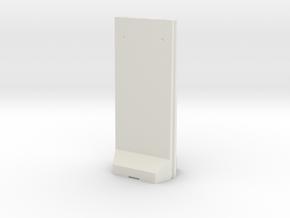 Concrete T-Wall 1/43 in White Natural Versatile Plastic