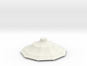 Austauschdach IHC-Carousel 2 für 1:87 (H0 scale) in White Natural Versatile Plastic