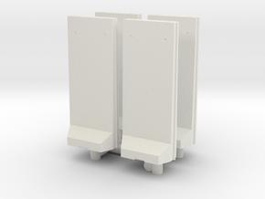 Concrete T-Wall (x4) 1/120 in White Natural Versatile Plastic