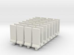 Concrete T-Wall (x32) 1/350 in White Natural Versatile Plastic