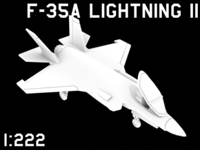 1:222 Scale F-35A Lightning II (Clean, Stored) in White Natural Versatile Plastic