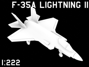 1:222 Scale F-35A Lightning II (Clean, Deployed) in White Natural Versatile Plastic
