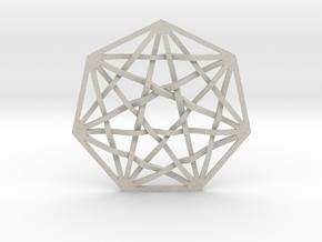 7D Hypercube Pendant in Natural Sandstone