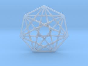 "7D Hypercube Pendant 1.5"" in Smooth Fine Detail Plastic"