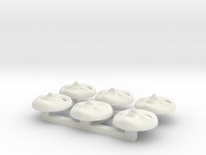 HO Edward Face Pack #2 in White Natural Versatile Plastic