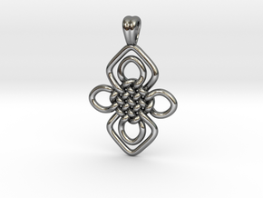 Orchid knot [pendant] in Polished Silver
