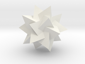 Compound of Five Tetrahedra - 1 inch in White Natural Versatile Plastic