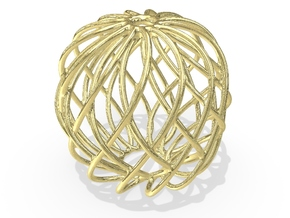 Christmas Ornament 2015_005 in 18K Yellow Gold