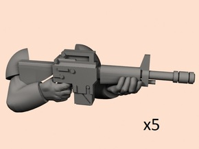 28mm Empire hands M16 laser in Smoothest Fine Detail Plastic