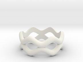 Weave Band in White Natural Versatile Plastic