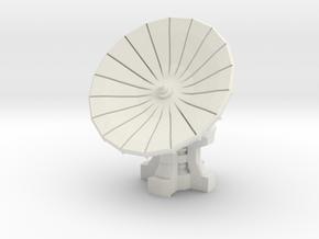 28mm Scale Com-Satellite Array in White Natural Versatile Plastic