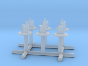 1/350 Yamato superstructures part8 top part SET x6 in Smooth Fine Detail Plastic