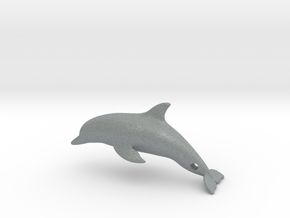 Dolphin Pendant in Polished Metallic Plastic