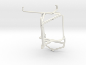 Controller mount for PS4 & ZTE Blade 11 Prime - To in White Natural Versatile Plastic