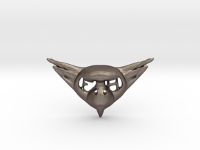 FLYHIGH: Womens Bird Pendant in Polished Bronzed Silver Steel
