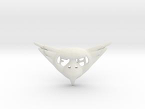 FLYHIGH: Womens Bird Pendant in White Natural Versatile Plastic