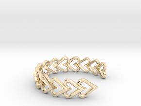 FLYHIGH: Open Heart Vertical Bracelet in 14K Yellow Gold
