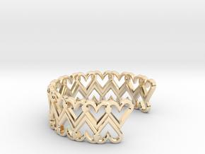 FLYHIGH: Open Heart Double Bracelet in 14K Yellow Gold