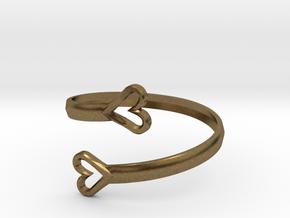 FLYHIGH: Open Hearts Bracelet in Natural Bronze