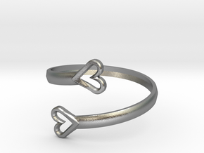 FLYHIGH: Open Hearts Bracelet in Natural Silver
