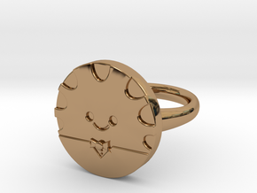 Peppermint Butler Ring (Medium) in Polished Brass