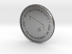 ESTONN Tomahawk Silver Coin (2021) in Natural Silver