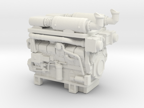1/50th Hydraulic Fracturing TIER IV Engine in White Natural Versatile Plastic